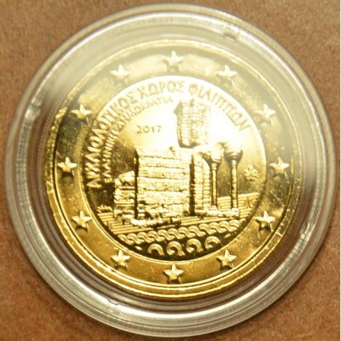 2 Euro Grécko 2017 - Archeologické nálezisko Philippi (pozlátená UNC)
