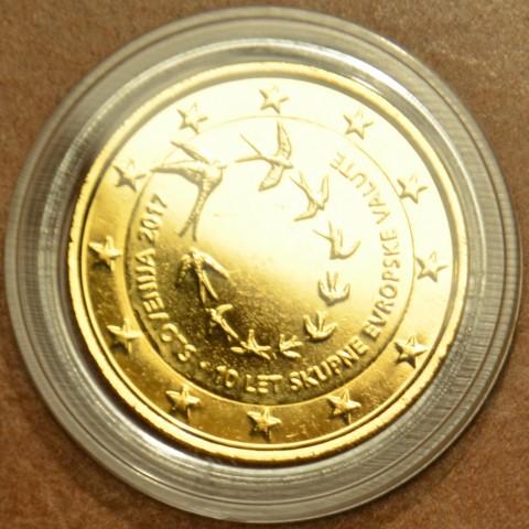 2 Euro Slovinsko 2017 - 10. výročie zavedenia Eura (pozlátená UNC)