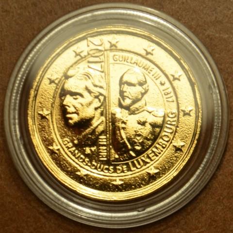 2 Euro Luxembursko 2017 - Veľkovojvoda Viliam III (pozlátená UNC)