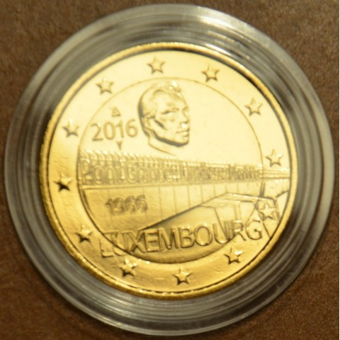 2 Euro Luxembourg 2016 - 50 Years of Grand Duchess Charlotte Bridge (gilded UNC)