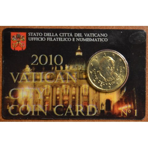 50 cent Vatican 2010 official coin card No. 1 (BU)