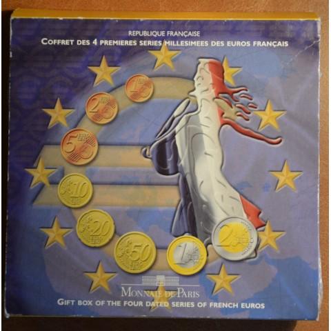 Súbor 8 Francúzskych mincí 1999-2002 (BU)