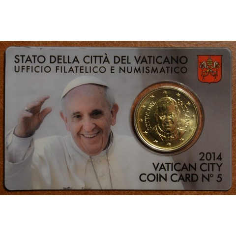 50 cent Vatican 2011 official coin card No. 2 (BU)