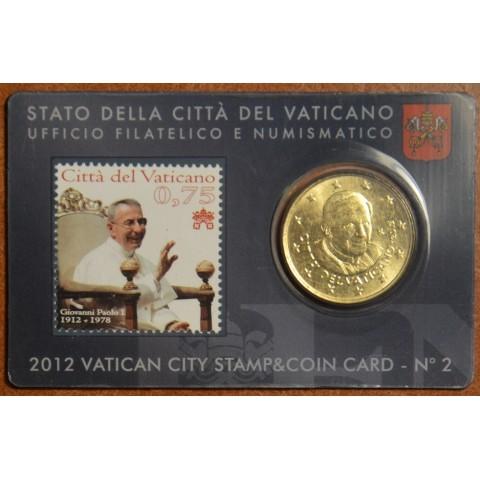 50 cent Vatikán 2012 oficiálna známková a mincová karta No. 2 (BU)