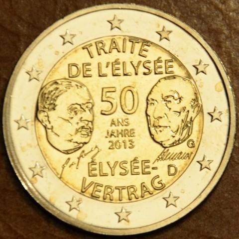 "2 Euro Germany ""G"" 2013 - 50 Years of the Élysée Treaty (UNC)"