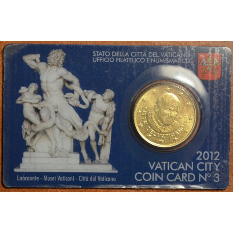 50 cent Vatican 2014 official coin card No. 5 (BU)