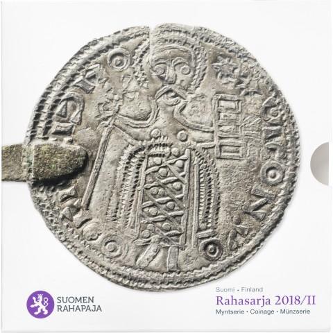 Sada 8 euromincí Fínsko 2018 II. (BU)