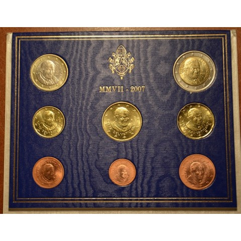 Set of 8 eurocoins Vatican 2007  (BU)