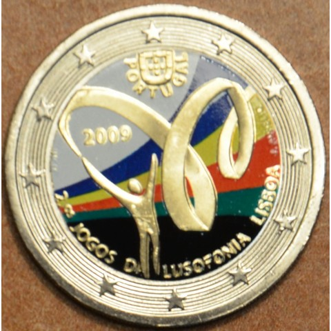 2 Euro Portugal 2009 - Lusophony Games II. (colored UNC)