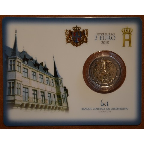 2 Euro Luxembourg 2018 - The 175th anniversary of the death of the Grand Duke Guillaume I. with dutch mintmark (BU card)