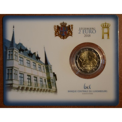 2 Euro Luxembourg 2018 - The 175th anniversary of the death of the Grand Duke Guillaume I. WITHOUT mintmark (UNC card)