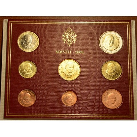 Set of 8 eurocoins Vatican 2008  (BU)