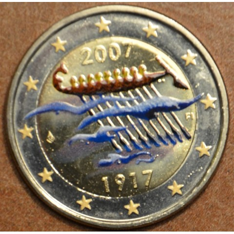 2 Euro Fínsko 2007 - 90. výročie nezávislosti Fínska (farebná UNC)