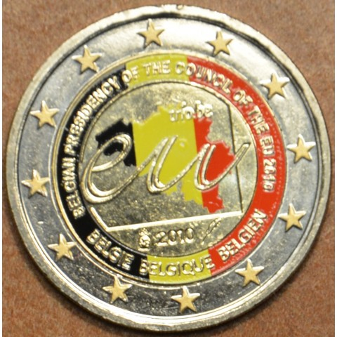 2 Euro Belgium 2010 - Belgian Presidency of the Council of the European Union II. (UNC colored)