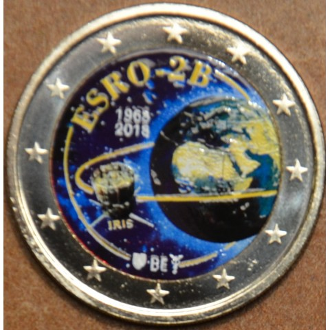 2 Euro Belgicko 2018 - 50 years of the satelite ESRO-2B II. (colored UNC)