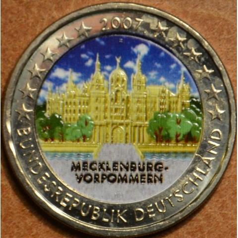 2 Euro Nemecko 2007 - Mecklenburg-Vorpommern: Schwerin Castle II.  (colored UNC)