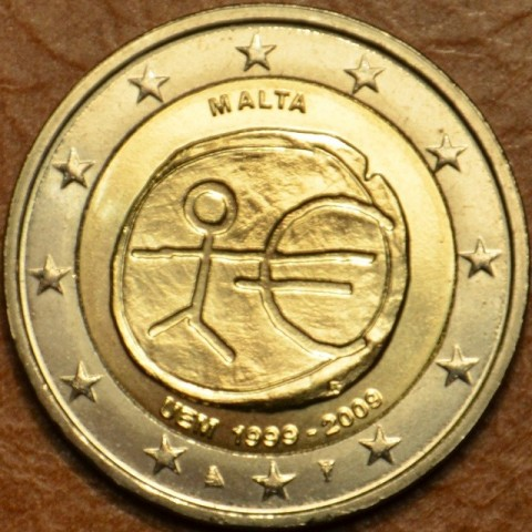 2 Euro Malta 2009 - 10th Anniversary of the Introduction of the Euro (UNC)