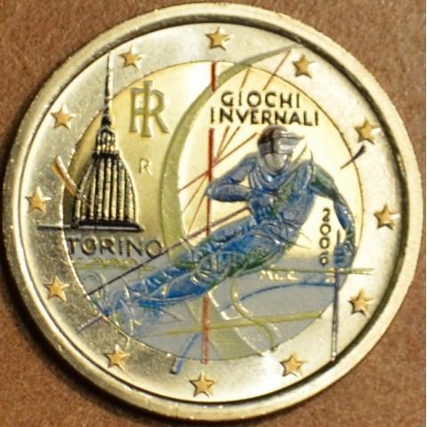 2 Euro Taliansko 2006 - XX. zimné olympijské hry Turín (farebná UNC)