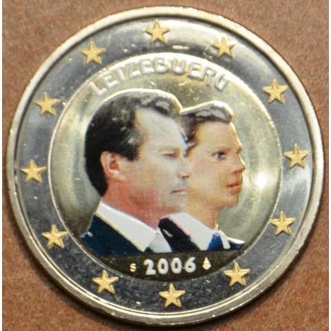 2 Euro Luxembourg 2006 - 25th Birthday of Hereditary Grand Duke Guillaume (colored UNC)