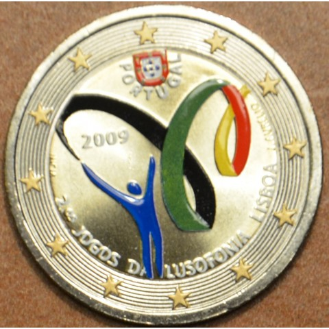 2 Euro Portugal 2009 - Lusophony Games (colored UNC)