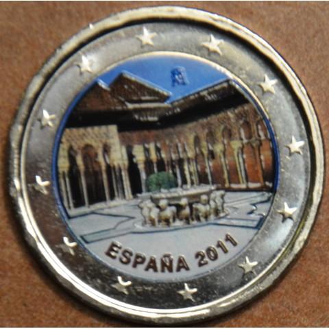 2 Euro Spain 2011 - UNESCO: Alhambra in Granada III.  (colored UNC)