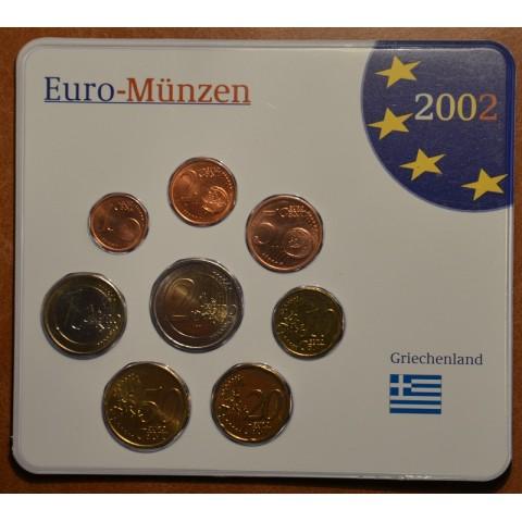 Set of 8 eurocoins Greece 2002 (UNC)