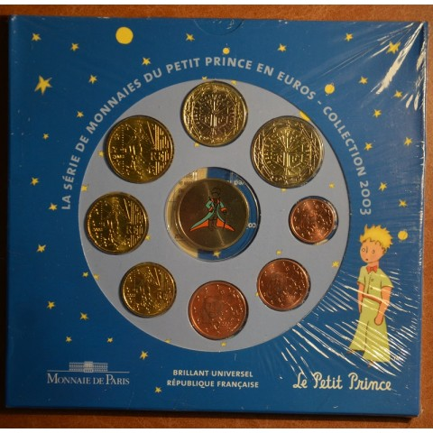 Set of 8 eurocoins France 2003 Petit prince (BU)