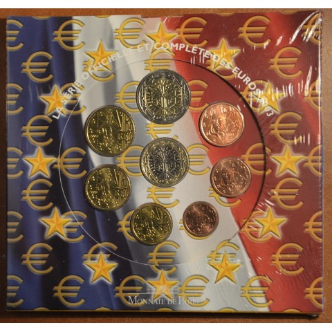Set of 8 eurocoins France 2003 (BU)