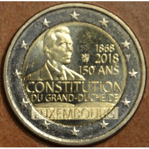 2 Euro Luxembourg 2018 - The 150th anniversary of the Luxembourg Constitution (damaged UNC)
