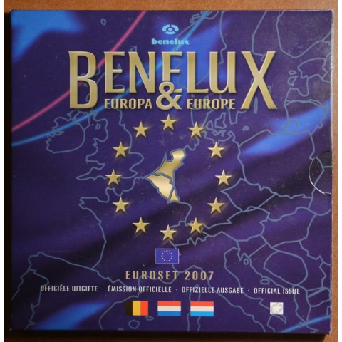 Official set of coins BeNeLux 2007  (BU)