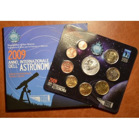 Official 9 coins set of San Marino 2009 (BU)