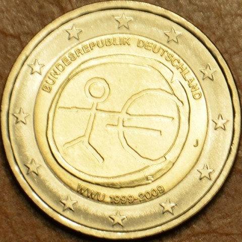 """2 Euro Germany """"J"""" 2009 - 10th Anniversary of the Introduction of the Euro (UNC)"""
