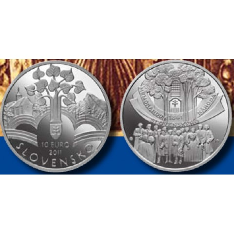 10 Euro Slovakia 2011 - Memorandum of the Slovak Nation (BU)