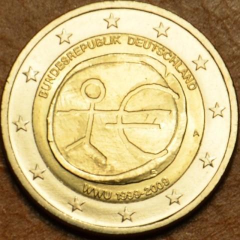 """2 Euro Nemecko """"A"""" 2009 - 10. výročie hospodárskej a menovej únie  (UNC)"""