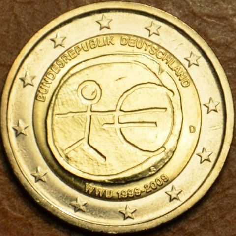 """2 Euro Germany """"D"""" 2009 - 10th Anniversary of the Introduction of the Euro (UNC)"""