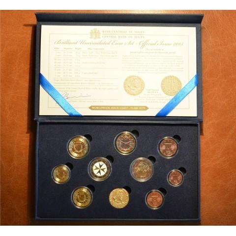 10 dielna sada obehových mincí Malta 2013 (BU)