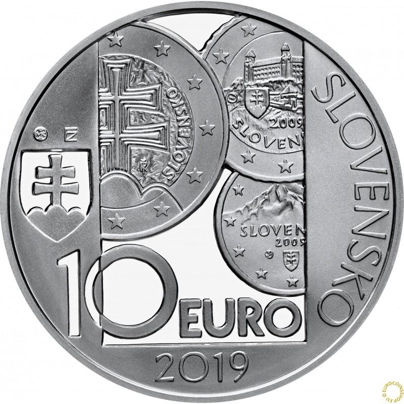 euromince mince 10 euro slovensko 2019 10 v ro ie. Black Bedroom Furniture Sets. Home Design Ideas