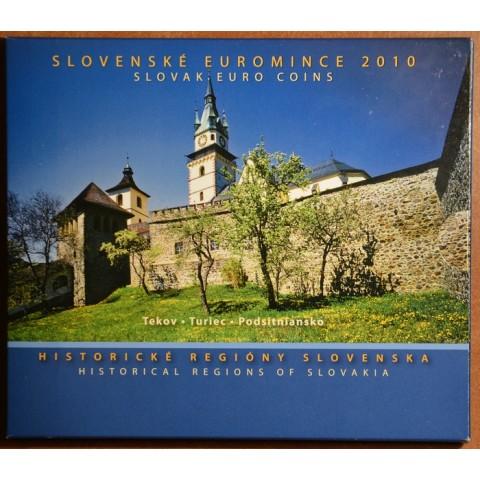 Obal na súbor Slovenských mincí 2010 - Historické regióny Slovenska - Turiec, Tekov, Podsitniansko