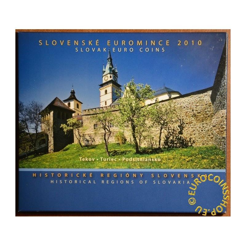 Súbor Slovenských mincí 2010 - Historické regióny Slovenska - Turiec, Tekov, Podsitniansko (BU)