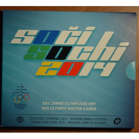 """Cover for set of Slovak coins 2014 """"Sochi"""""""