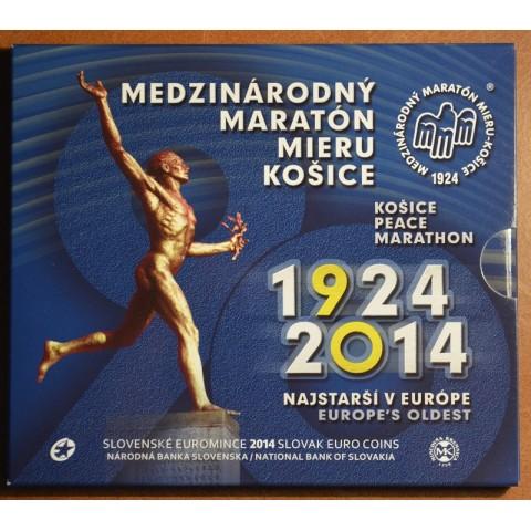 "Cover for set of Slovak coins 2014 ""90th start of International marathon in Košice"""