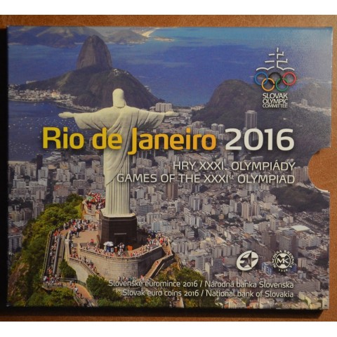 Cover for set of 8 Slovak coins 2016 RIO