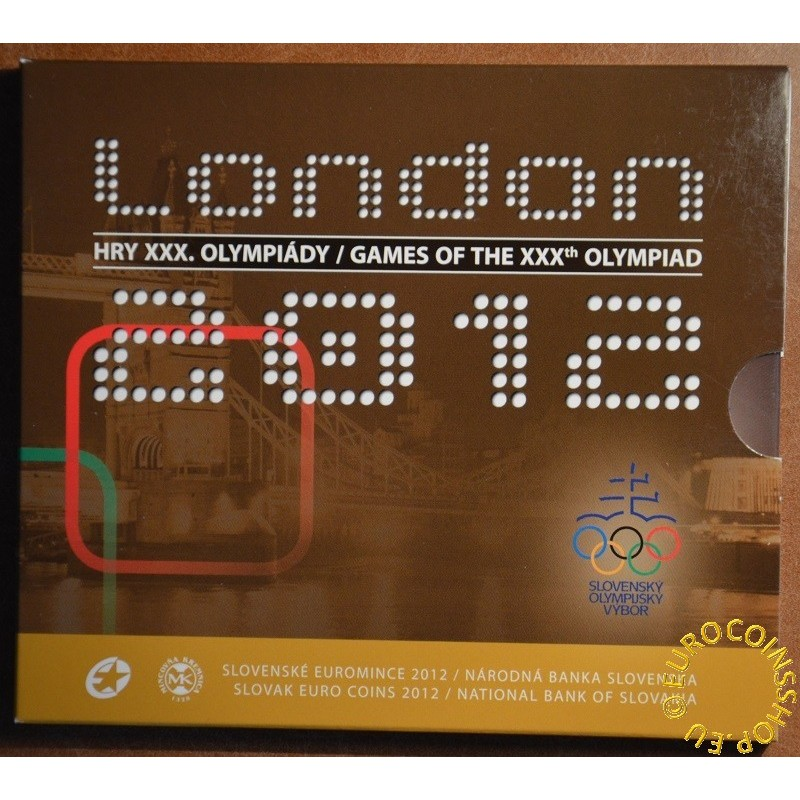 Cover for set of 8 Slovak coins 2012 London