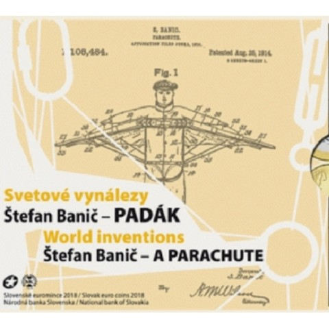Cover for set of 8 Slovak coins 2018 Banic