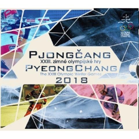 Cover for set of 8 Slovak coins 2018 Pjongčang