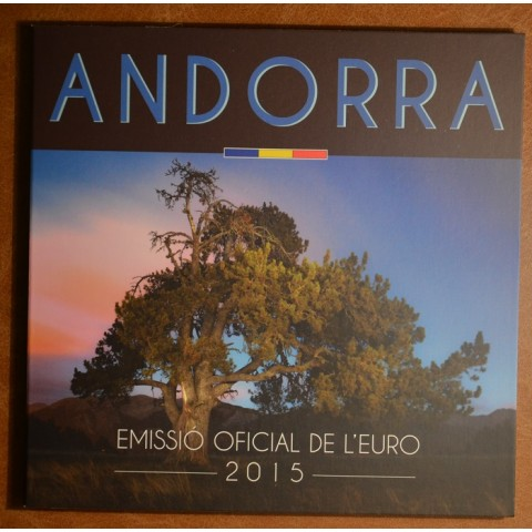 Cover for set of 8 Euro coins Andorra 2015