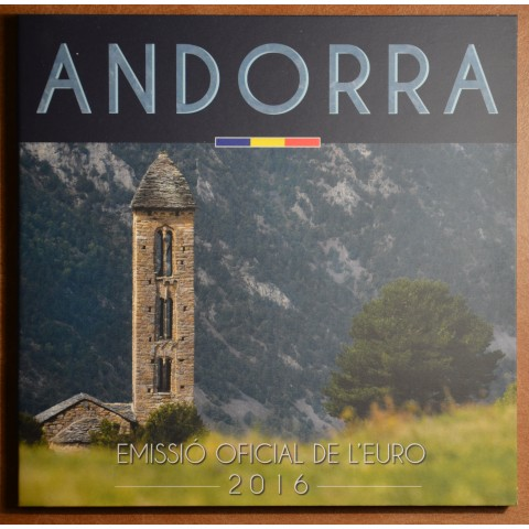 Cover for set of 8 Euro coins Andorra 2016
