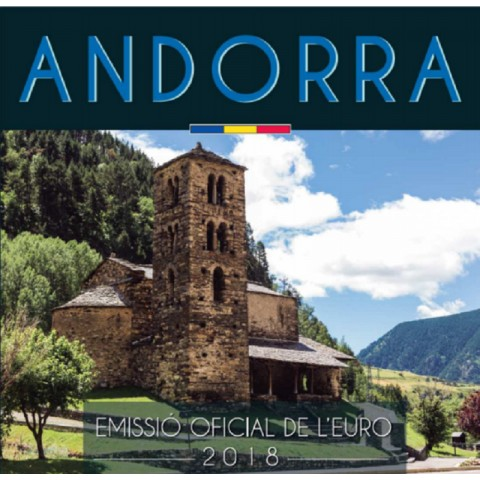 Cover for set of 8 Euro coins Andorra 2018