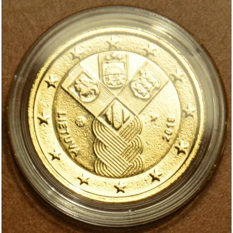 2 Euro Litva 2018 - 100 rokov nezávislosti pobaltských krajín (pozlátená UNC)