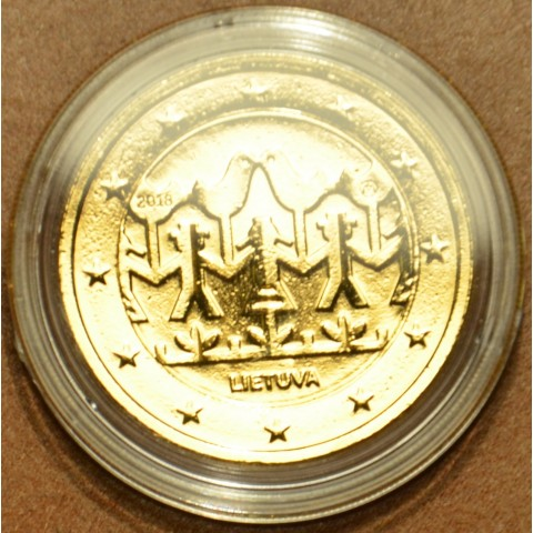 2 Euro Lithuania 2018 - Lithuanian Song and Dance celebration (gilded UNC)